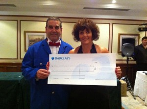 HAT Foundations receives a cheque from Barclays Bank in Barry